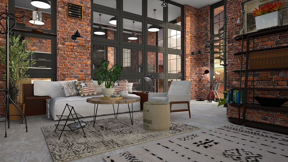 A beautiful loft after interior design ideas for lofts have been applied.