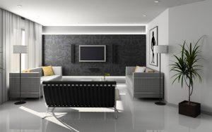 A modern living room.