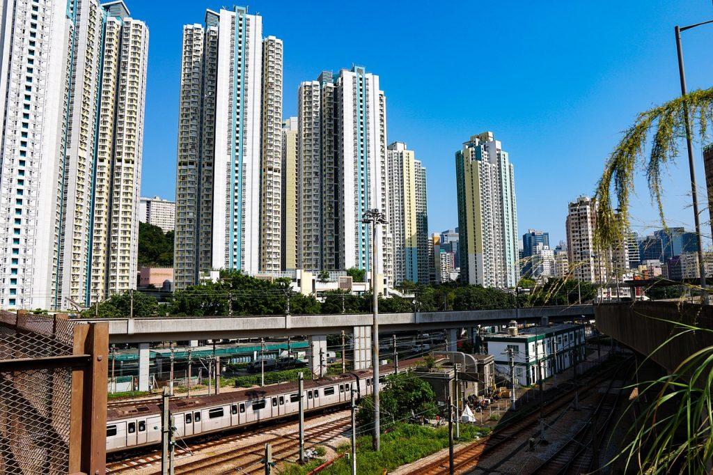 Apartment buildings in Hong Kong