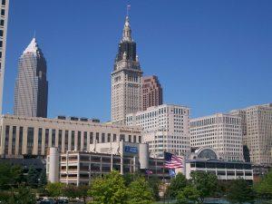 Cleveland cityscape.