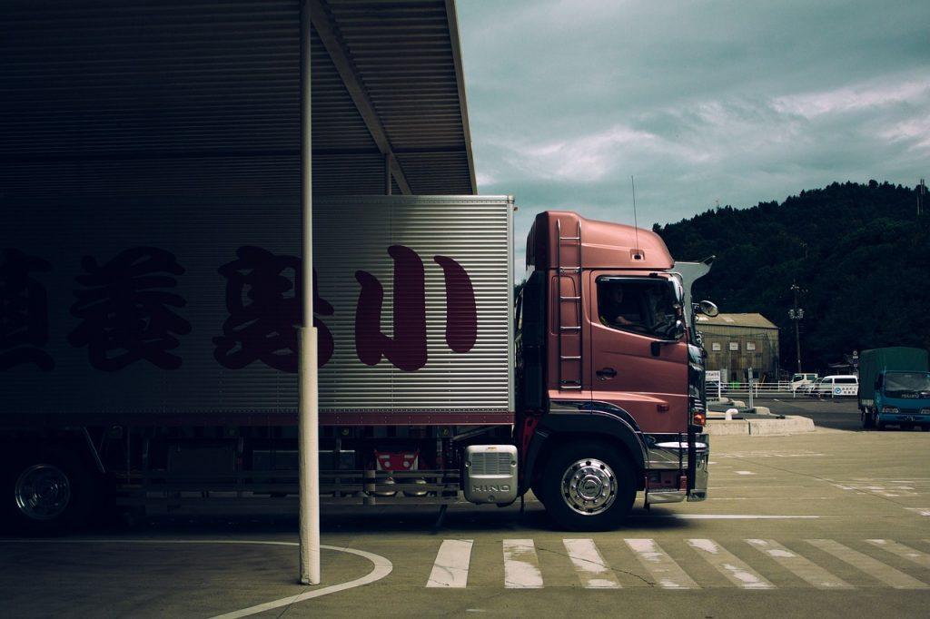 A Hong Kong moving truck