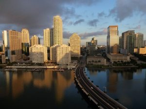 A view of Miami, one of the cities with the best rental investment opportunities in Florida.