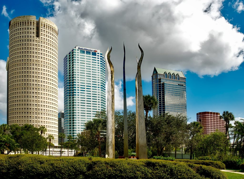 Tampa as one of the cities where people can buy a family house in Florida;