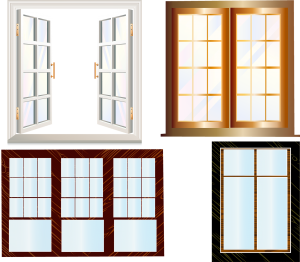 Various types of windows.