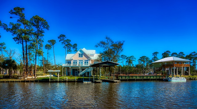 A waterfront home in Mississippi.