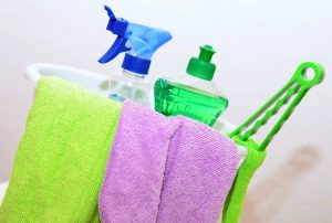 Cleaning equipment every summer home maintenance checklist includes.