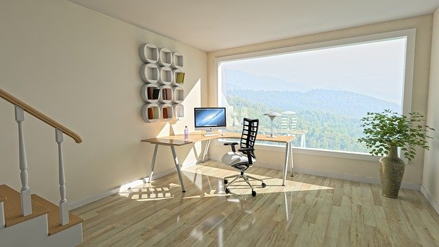 An office with a view