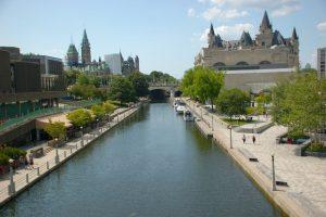 A canal in Ottawa