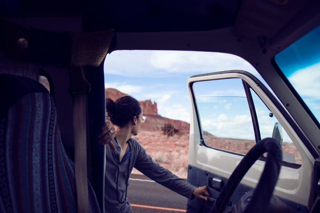 A young man entering a van and heading towards one of the best neighborhoods in Utah.