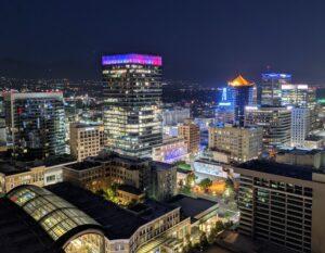 A view of Salt Lake City Downtown, one of the best neighborhoods in Utah.