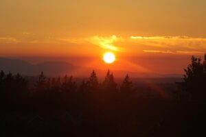 Sunset over Issaquah.