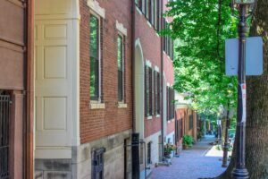 A street in Beacon Hill, one of the best Boston neighborhoods for real estate investment