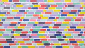 An image of differently colored bricks